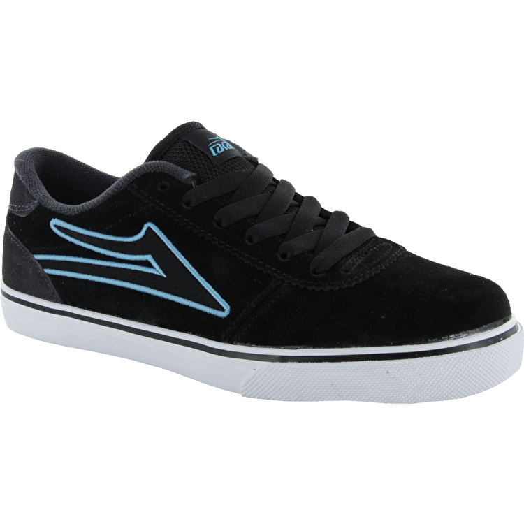 Lakai Kids Manchester Skate Shoes - Black/Grey Suede