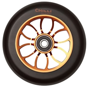Chilli Pro Reaper 110mm Scooter Wheel w/Bearings - Black/Orange