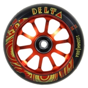 AO Delta 100mm Wheel incl Bearings - Red