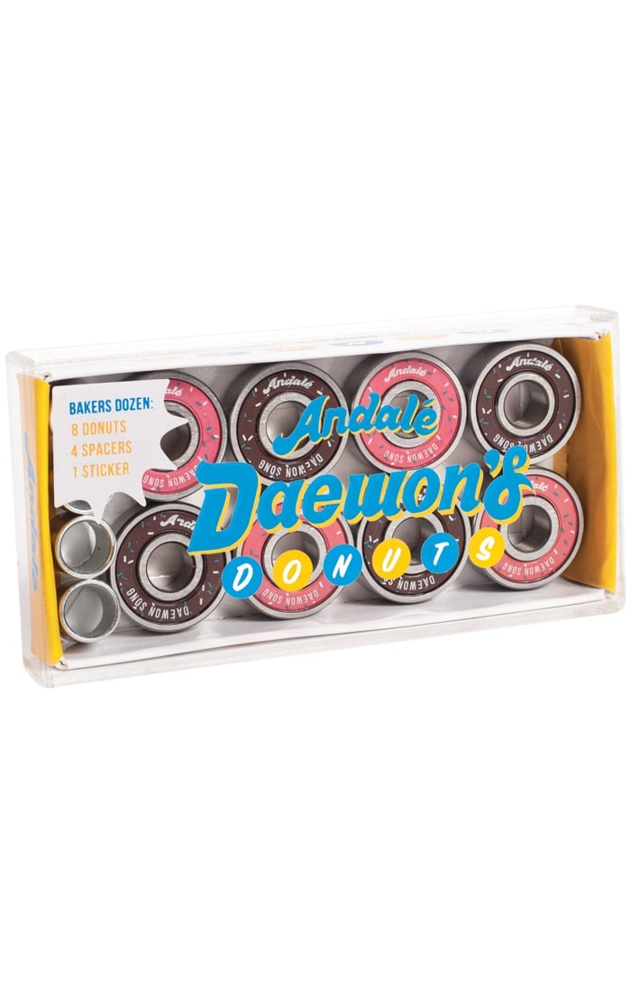 Image of Andale Skateboard Bearings - Donut Box Daewon Song (Pack of 8)