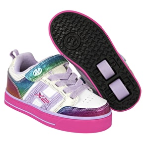 Heelys X2 Bolt Plus Light Up - White/Rainbow/Pink