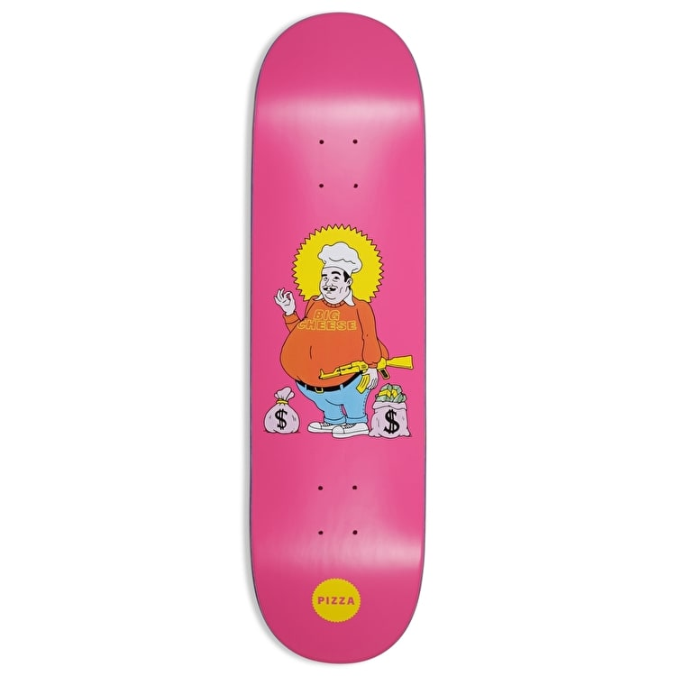 Pizza Skateboards Big Cheese Skateboard Deck - Pink - 8.25""