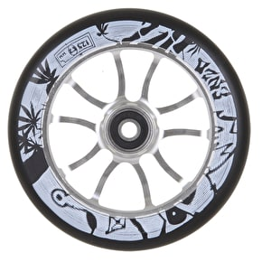 AO 125mm Enzo 2 Signature Scooter Wheel - Silver