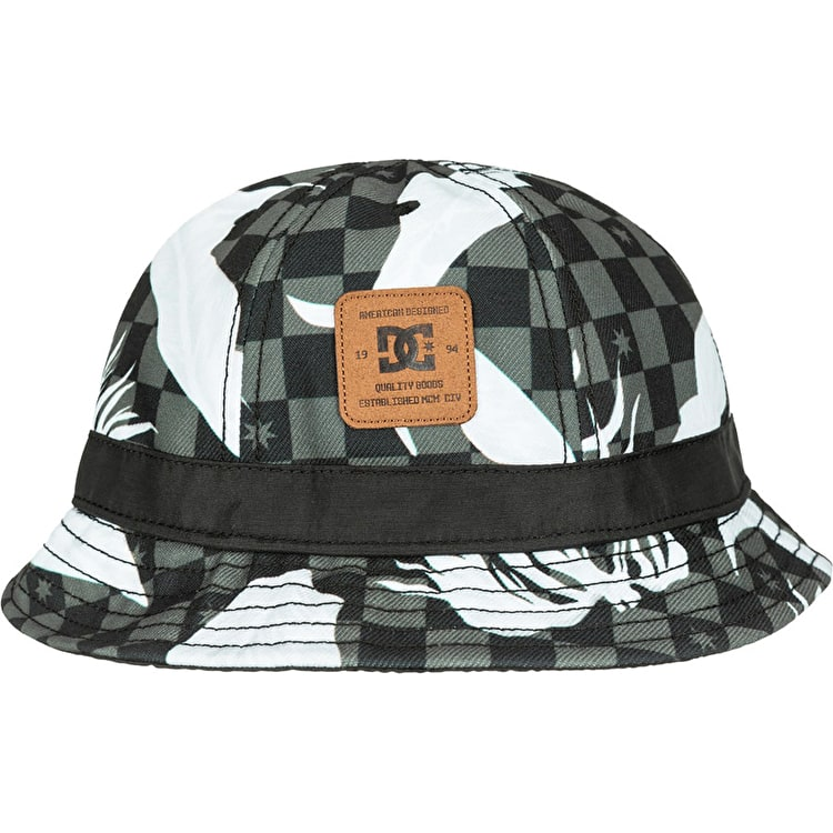 DC Pocky Bucket Hat - Leafy Check Black