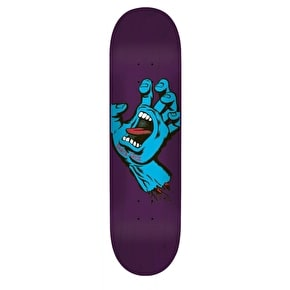 Santa Cruz Team Skateboard Deck - Minimal Hand Purple 8.375