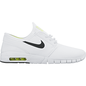 Nike SB Stefan Janoski Max Skate Shoes - White/Black