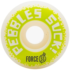 Force Pebbles Suck! 2017 Skateboard Wheels - 53mm
