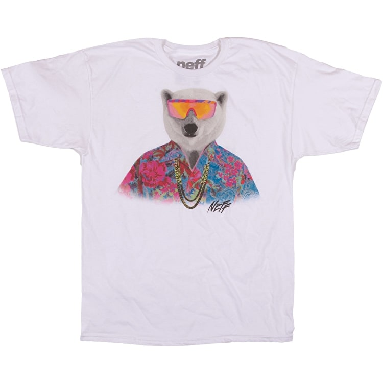 Neff Bear Five-O T-Shirt - White
