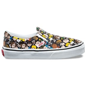 Vans x Peanuts Classic Slip-On Kids Shoes - The Gang/Black