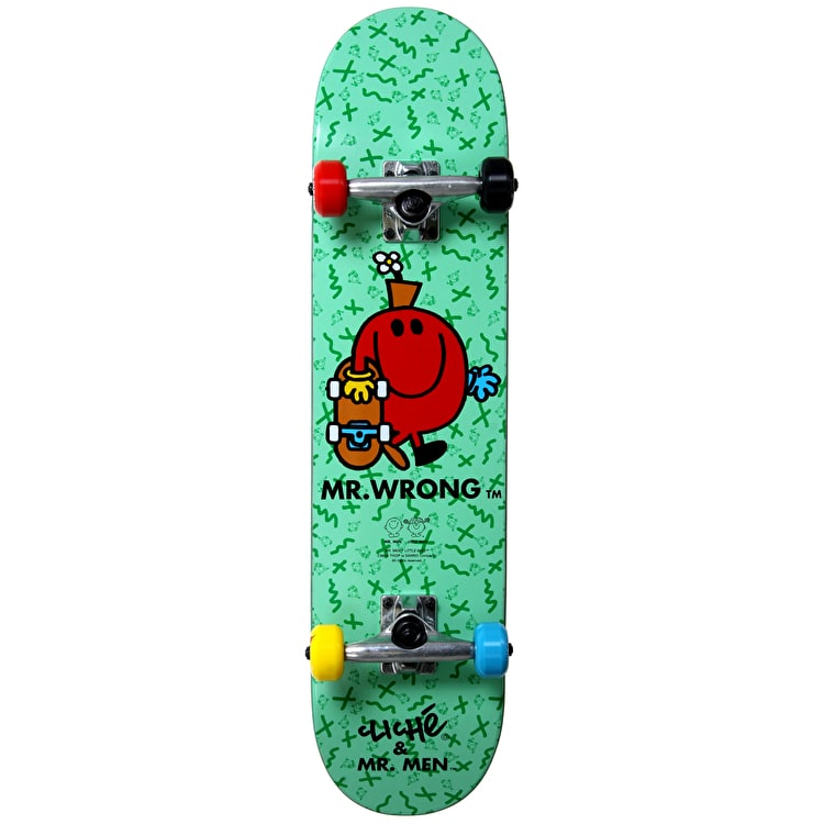 """Cliché Kids Skateboard - Mr. Wrong Turquoise 7.5"""""""