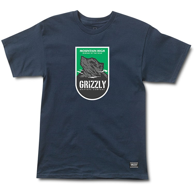 Grizzly Mountain High T-Shirt - Navy