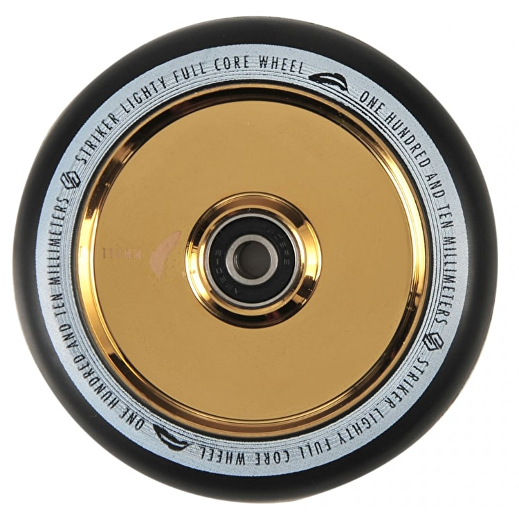 Striker Lighty Full Core V2 110mm Scooter Wheel - Gold Chrome