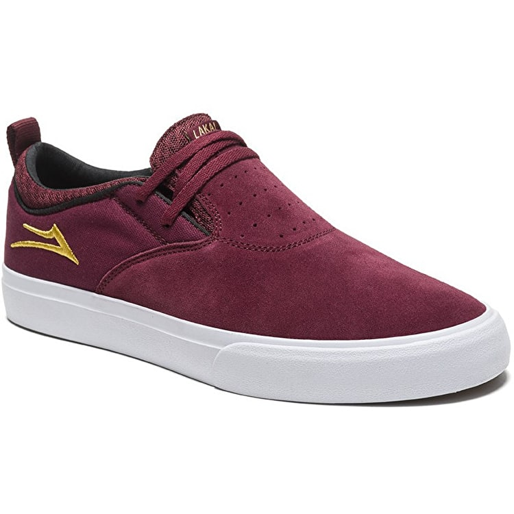 Lakai Riley Hawk 2 Skate Shoes - Burgundy Suede