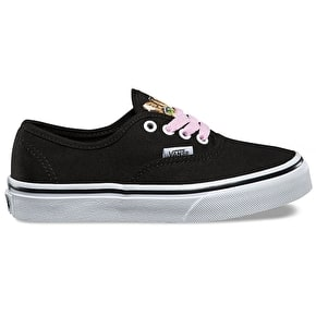 Vans Authentic Kids Skate Shoes - (Hidden Kittens) Black/True White