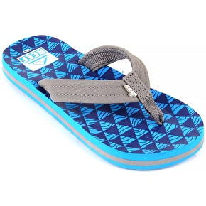 Reef Kids' Ahi Flip Flops - Blue/Blue Stacked