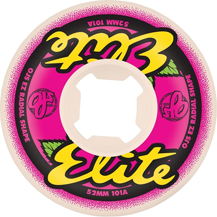 OJ Elite EZ Edge 101A Skateboard Wheels - Pink/Yellow (Pack of 4)