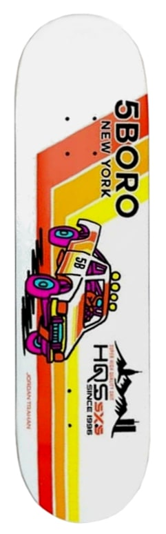 Image of 5Boro Moto Series Deck - Pick Up Trahan 8.0""