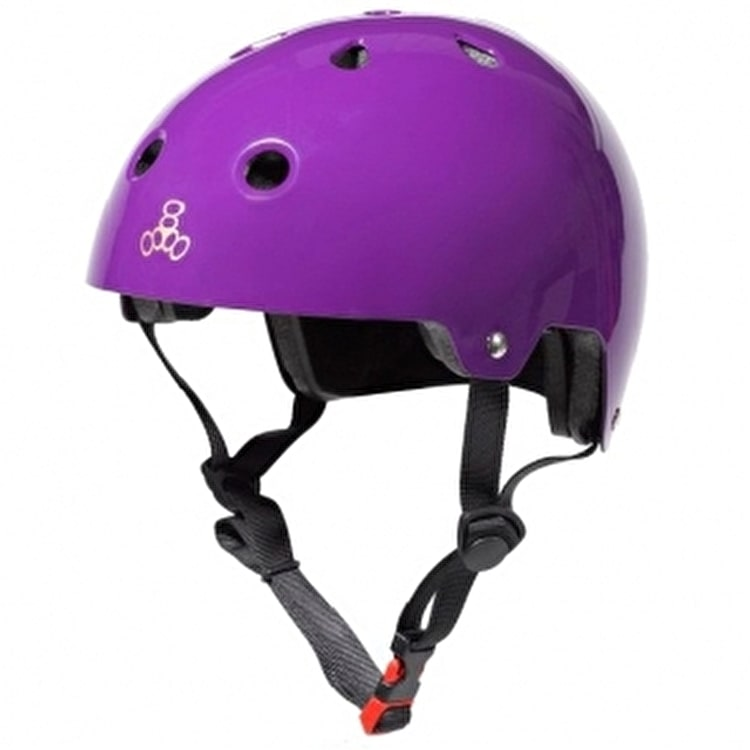 Triple 8 Brainsaver Dual Certified Helmet Purple Glossy