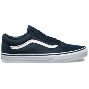 Vans Old Skool Skate Shoes - (Suede/Canvas) Teal/True White