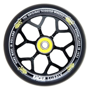 Eagle Sport 110mm 6M Spoke Scooter Wheel - Black/Black PU