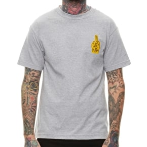 Rebel8 Go F**k Yourself T-Shirt - Heather Grey