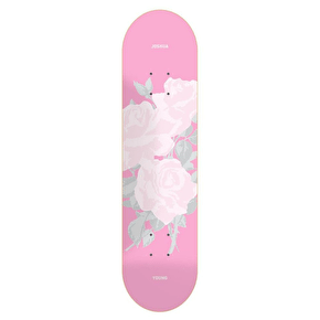 National Skateboard Co Manhead Skateboard Deck - Pink - 8.0