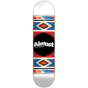 Almost Aztec Blanket HYB Skateboard Deck - White 8