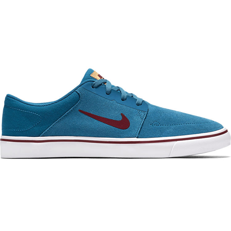 Nike SB Portmore Shoes - Green Abyss/Team Red