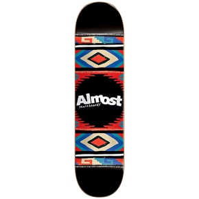 Almost Aztec Blanket HYB Skateboard Deck - Black 7.75