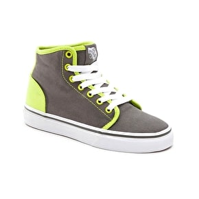 Vans 106 Hi Kids Shoes - (Pop) Charcoal/Lime Punch
