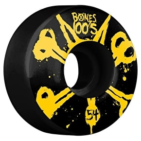 Bones OG 100'S #10 V4 Skateboard Wheels - Black 54mm (Pack of 4)
