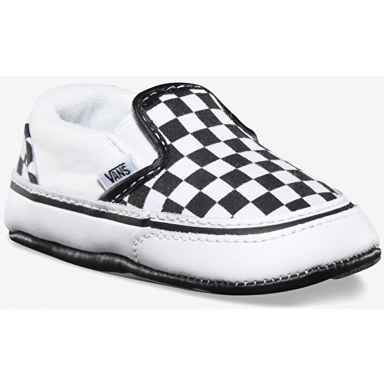 Vans Classic Slip On Crib Shoes - Black/White Checker