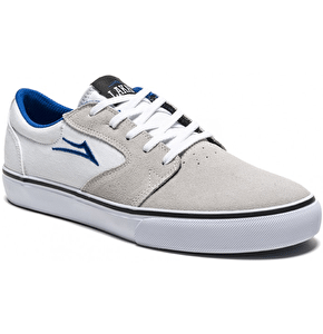 Lakai Fura Skate Shoes - White/Blue Suede