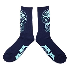Rebel8 Muertos Socks - Blue