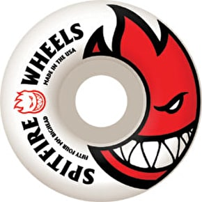 Spitfire White Skateboard Wheels Bighead - Red 52mm (Pack of 4)