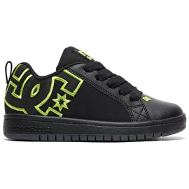 DC Court Graffik SE Skate Shoes - Black/Black/Soft Lime