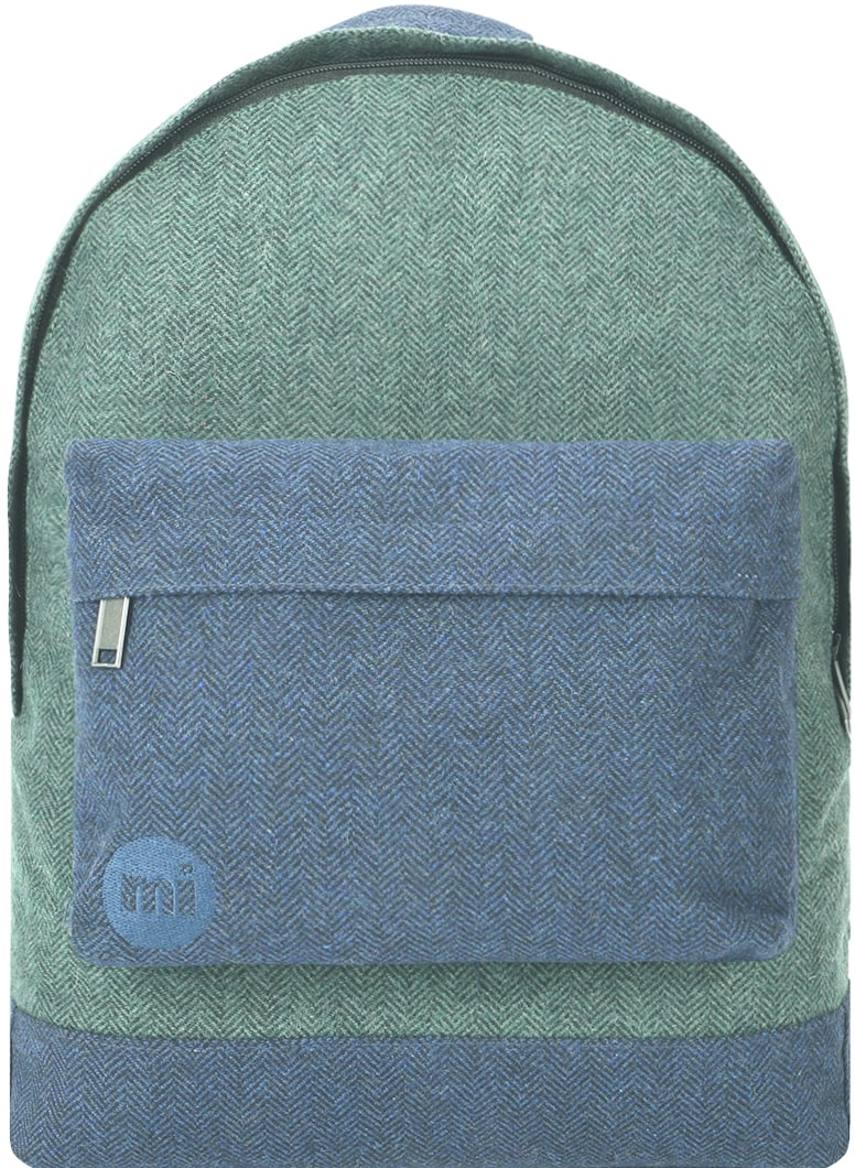 MiPac Herringbone Mix Backpack  GreenNavy
