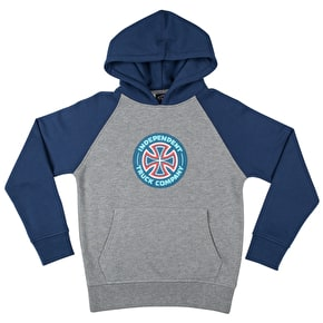 Independent Youth Combi TC Raglan Hoodie - Navy/Dark Heather