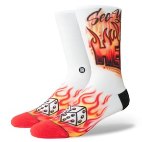 Stance Airbrush Hell Socks - Red