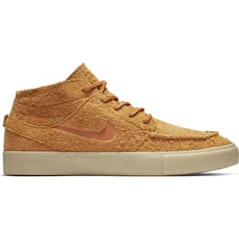 Nike SB Zoom Janoski Mid Crafted Skate Shoes - Cinder Orange/Cinder Orange-Team Gold