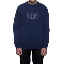 Huf Malibu Crew Fleece Crewneck - Navy