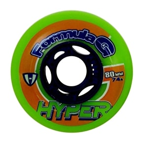 Hyper Hockey Formula G Era 74A Inline Wheels - Green - 72mm (B-Stock)