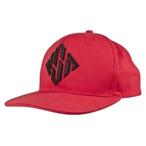 USD Diamond Logo Snapback Cap-Red