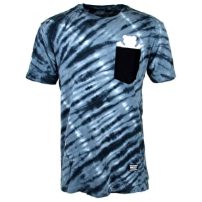Grizzly Tie-Dye Pocket T-Shirt - Navy