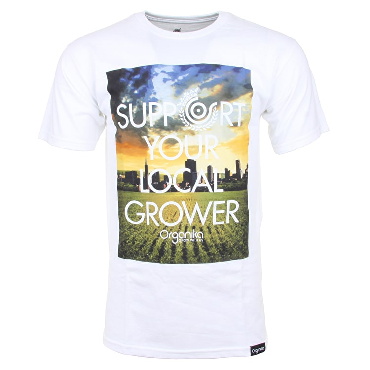 Organika Support Field T-Shirt - White
