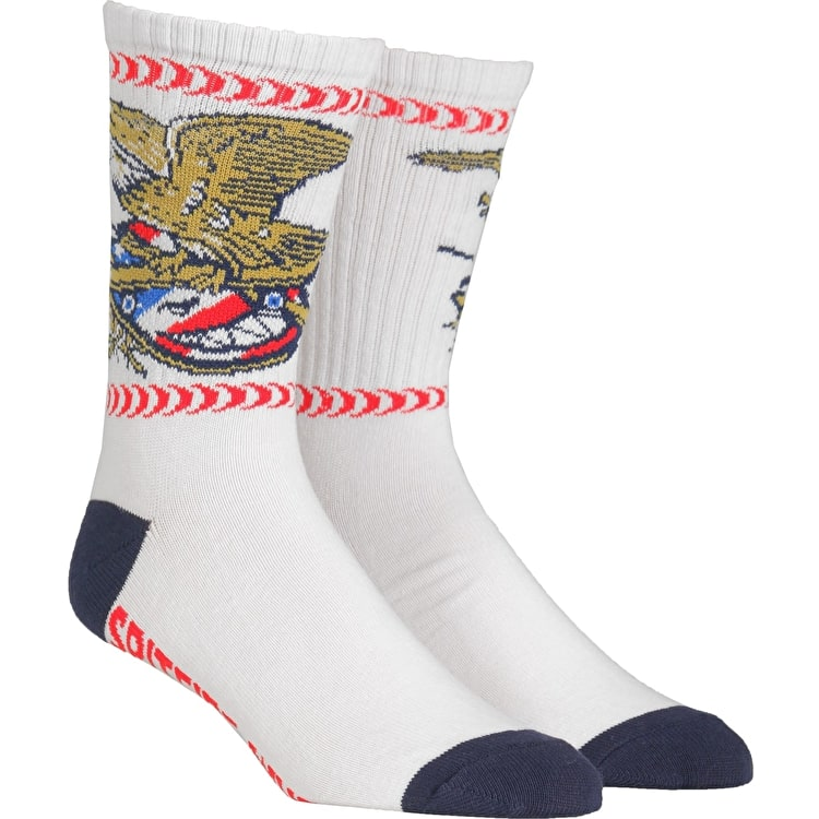 Spitfire Members Patch Socks - Navy