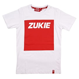 Zukie Box Logo Kids T Shirt - White