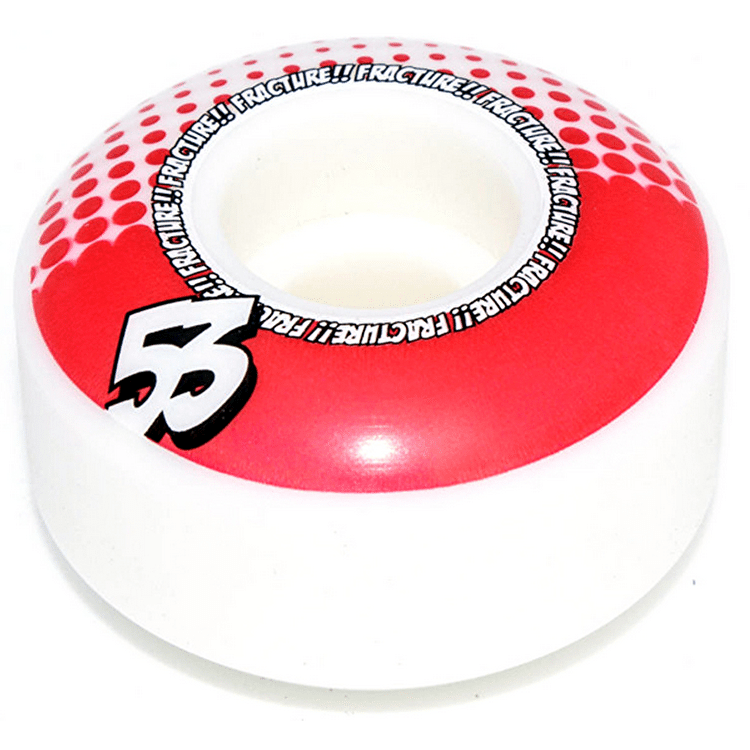 Fracture Drops Skateboard Wheels - Red 53mm (Pack of 4)