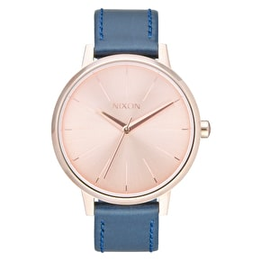 Nixon Kensington Leather Watch - Rose Gold/Navy