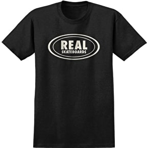 Real Oval T-Shirt - Black/Heather
